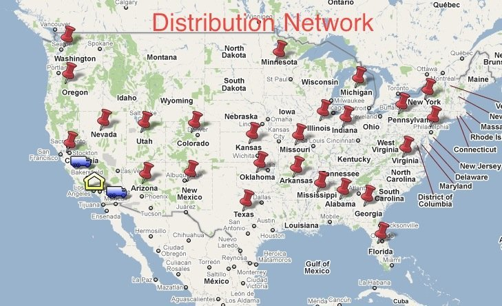 Distribution network map