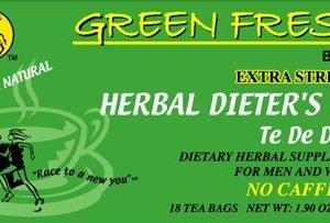 Green Fresh Herbal Dieters Tea 12 boxes x 18 tea bags