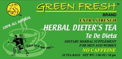 Green Fresh Herbal Dieters Tea 12 boxes x 18 tea bags